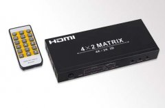 4kx2K HDMI Matrix 4x2 with Remo